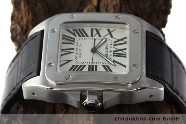 Used luxury watch Cartier Santos 100 steel automatic Kal. 49 ETA 2892-2  | 142438 05