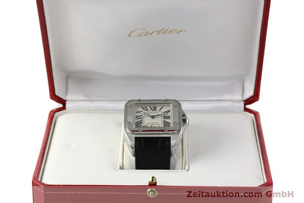 Used luxury watch Cartier Santos 100 steel automatic Kal. 49 ETA 2892-2  | 142438 07