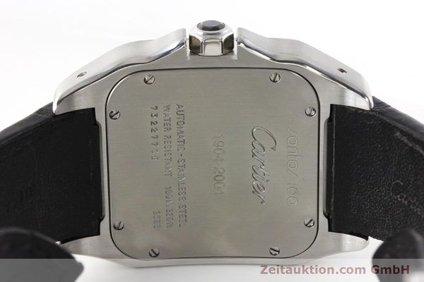 Used luxury watch Cartier Santos 100 steel automatic Kal. 49 ETA 2892-2  | 142438 09