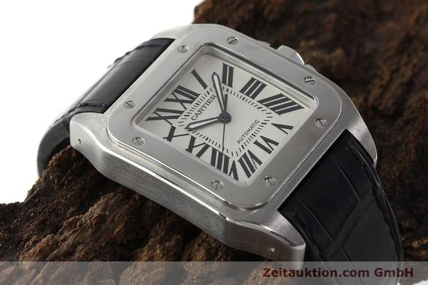 Used luxury watch Cartier Santos 100 steel automatic Kal. 49 ETA 2892-2  | 142438 15