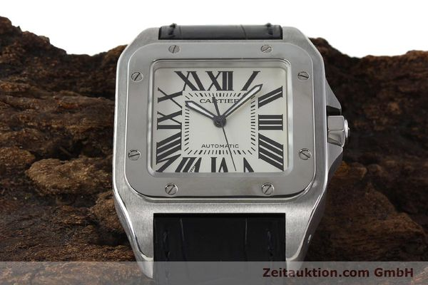 Used luxury watch Cartier Santos 100 steel automatic Kal. 49 ETA 2892-2  | 142438 16