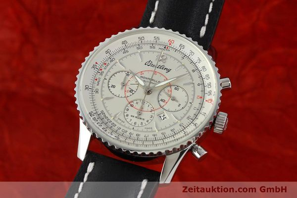 Used luxury watch Breitling Montbrillant chronograph steel automatic Kal. B41 ETA 2892A2 Ref. A41030  | 142445 04