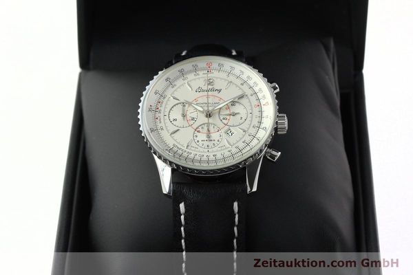 Used luxury watch Breitling Montbrillant chronograph steel automatic Kal. B41 ETA 2892A2 Ref. A41030  | 142445 07