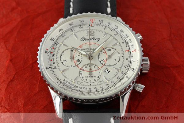 Used luxury watch Breitling Montbrillant chronograph steel automatic Kal. B41 ETA 2892A2 Ref. A41030  | 142445 14