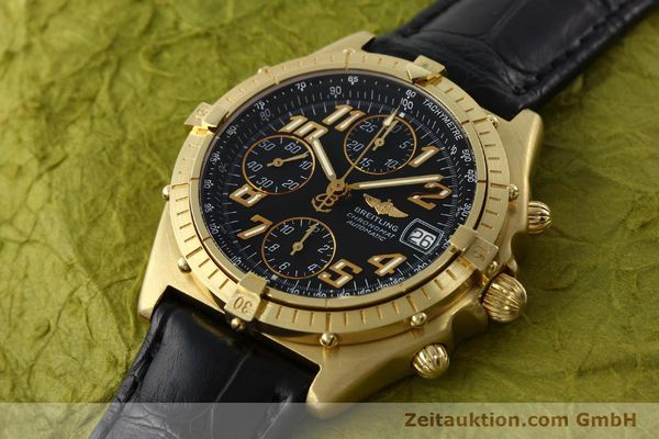 Used luxury watch Breitling Chronomat chronograph 18 ct gold automatic Kal. ETA 7750 Ref. 81950  | 142447 01