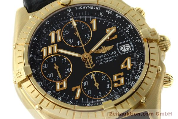 Used luxury watch Breitling Chronomat chronograph 18 ct gold automatic Kal. ETA 7750 Ref. 81950  | 142447 02