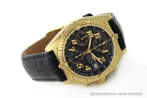 Used luxury watch Breitling Chronomat chronograph 18 ct gold automatic Kal. ETA 7750 Ref. 81950  | 142447 03