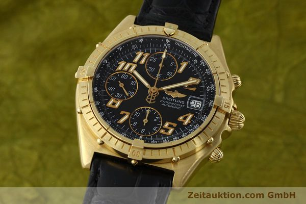 Used luxury watch Breitling Chronomat chronograph 18 ct gold automatic Kal. ETA 7750 Ref. 81950  | 142447 04