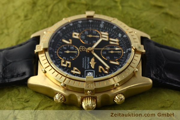 Used luxury watch Breitling Chronomat chronograph 18 ct gold automatic Kal. ETA 7750 Ref. 81950  | 142447 05