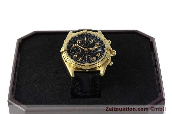 Used luxury watch Breitling Chronomat chronograph 18 ct gold automatic Kal. ETA 7750 Ref. 81950  | 142447 07