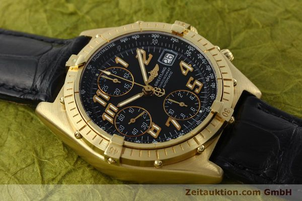 Used luxury watch Breitling Chronomat chronograph 18 ct gold automatic Kal. ETA 7750 Ref. 81950  | 142447 13