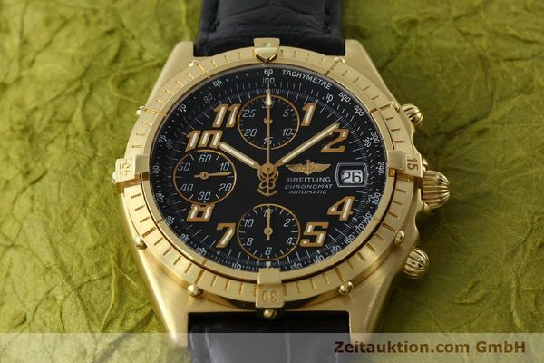 Used luxury watch Breitling Chronomat chronograph 18 ct gold automatic Kal. ETA 7750 Ref. 81950  | 142447 14