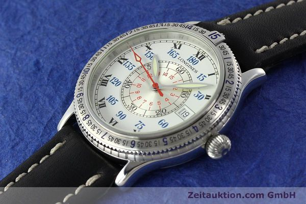 Used luxury watch Longines Lindbergh Stundenwinkel steel automatic Kal. L617.2 ETA 2892 Ref. L2.617.4  | 142451 01