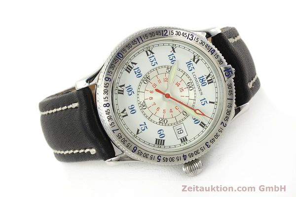 Used luxury watch Longines Lindbergh Stundenwinkel steel automatic Kal. L617.2 ETA 2892 Ref. L2.617.4  | 142451 03