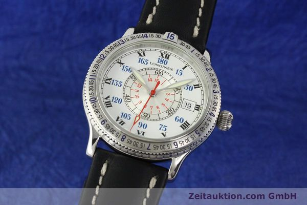 Used luxury watch Longines Lindbergh Stundenwinkel steel automatic Kal. L617.2 ETA 2892 Ref. L2.617.4  | 142451 04