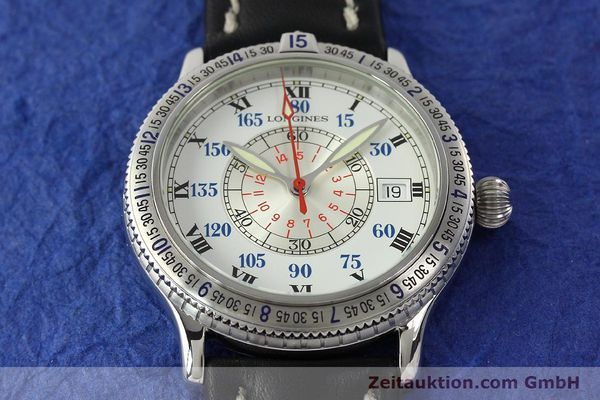 Used luxury watch Longines Lindbergh Stundenwinkel steel automatic Kal. L617.2 ETA 2892 Ref. L2.617.4  | 142451 14