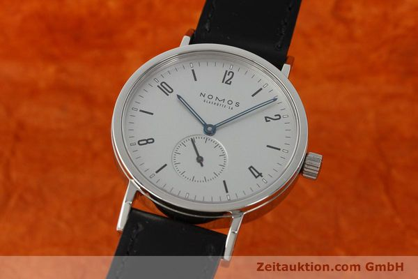 Used luxury watch Nomos Tangente Sport steel manual winding Kal. ETA 7001  | 142452 04