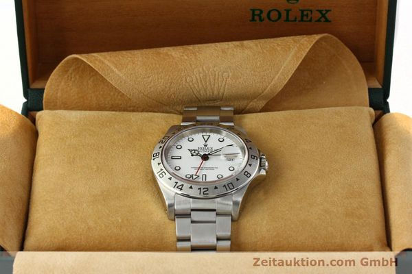 Used luxury watch Rolex Explorer II steel automatic Kal. 3185 Ref. 16570  | 142453 07