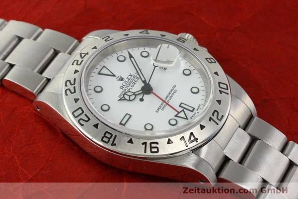 Used luxury watch Rolex Explorer II steel automatic Kal. 3185 Ref. 16570  | 142453 16