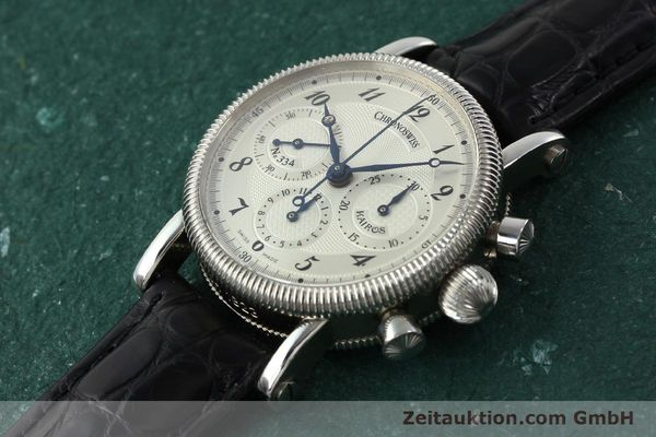Used luxury watch Chronoswiss Kairos chronograph steel manual winding Kal. LWO 1875 Ref. CH1823  | 142455 01