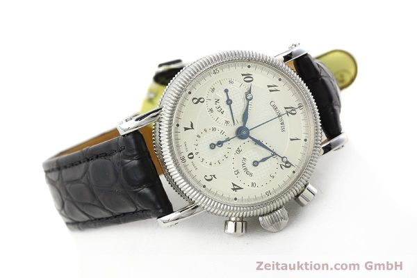 Used luxury watch Chronoswiss Kairos chronograph steel manual winding Kal. LWO 1875 Ref. CH1823  | 142455 03