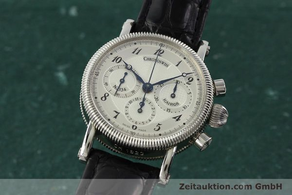 Used luxury watch Chronoswiss Kairos chronograph steel manual winding Kal. LWO 1875 Ref. CH1823  | 142455 04
