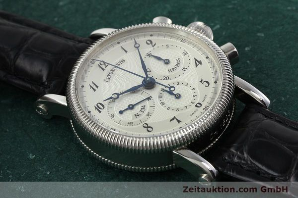Used luxury watch Chronoswiss Kairos chronograph steel manual winding Kal. LWO 1875 Ref. CH1823  | 142455 16