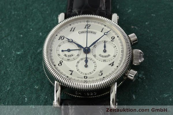 Used luxury watch Chronoswiss Kairos chronograph steel manual winding Kal. LWO 1875 Ref. CH1823  | 142455 17