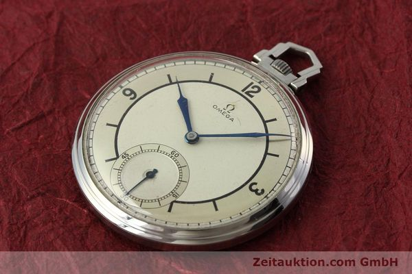 Used luxury watch Omega Taschenuhr steel manual winding Kal. 37,5L-15P  | 142456 01