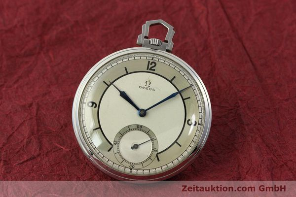 Used luxury watch Omega Taschenuhr steel manual winding Kal. 37,5L-15P  | 142456 04