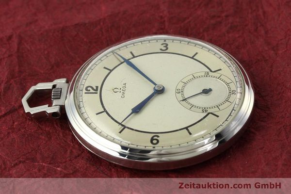Used luxury watch Omega Taschenuhr steel manual winding Kal. 37,5L-15P  | 142456 05