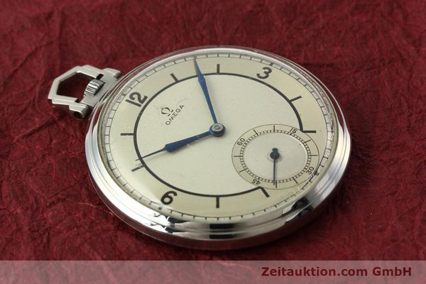 Used luxury watch Omega Taschenuhr steel manual winding Kal. 37,5L-15P  | 142456 13
