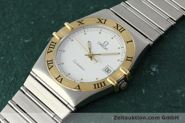 montre de luxe d occasion Omega Constellation acier / or  quartz Kal. ETA 255.461  | 142459 01