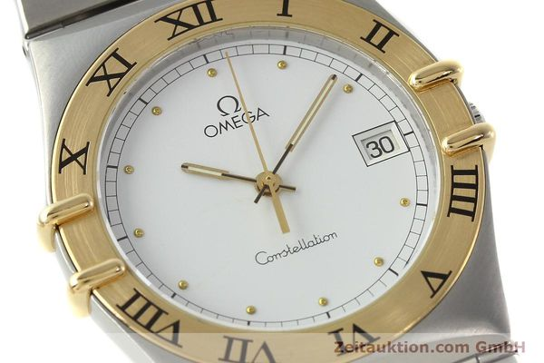 Used luxury watch Omega Constellation steel / gold quartz Kal. ETA 255.461  | 142459 02