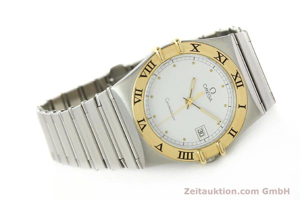 Used luxury watch Omega Constellation steel / gold quartz Kal. ETA 255.461  | 142459 03