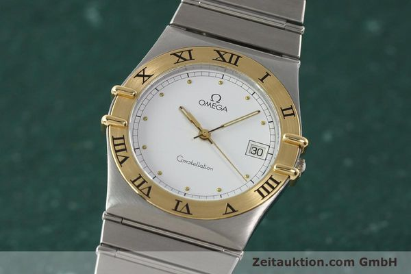 montre de luxe d occasion Omega Constellation acier / or  quartz Kal. ETA 255.461  | 142459 04