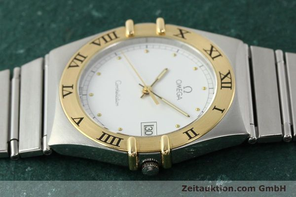 Used luxury watch Omega Constellation steel / gold quartz Kal. ETA 255.461  | 142459 05