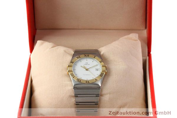 Used luxury watch Omega Constellation steel / gold quartz Kal. ETA 255.461  | 142459 07