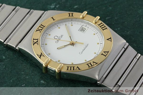 Used luxury watch Omega Constellation steel / gold quartz Kal. ETA 255.461  | 142459 12