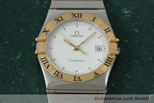 montre de luxe d occasion Omega Constellation acier / or  quartz Kal. ETA 255.461  | 142459 13
