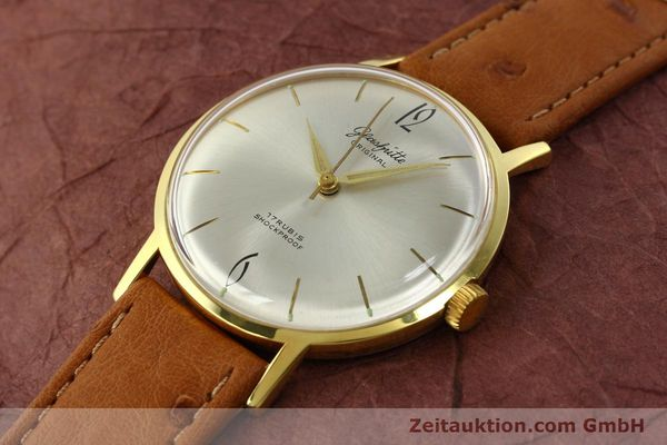 Used luxury watch Glashütte * gold-plated manual winding Kal. 70.1  | 142484 01