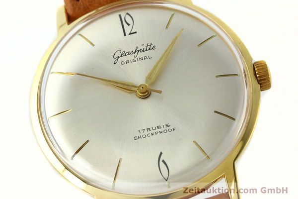 Used luxury watch Glashütte * gold-plated manual winding Kal. 70.1  | 142484 02