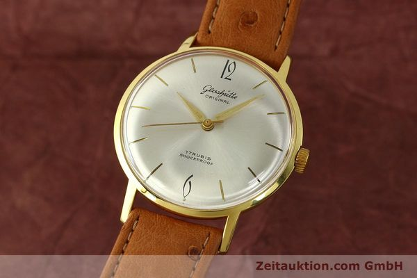 Used luxury watch Glashütte * gold-plated manual winding Kal. 70.1  | 142484 04