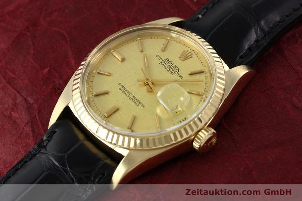 Used luxury watch Rolex Datejust 18 ct gold automatic Kal. 1570 Ref. 1601  | 142486 01