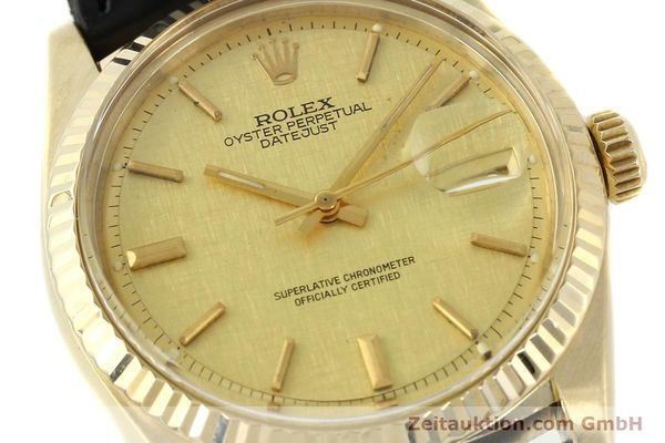 Used luxury watch Rolex Datejust 18 ct gold automatic Kal. 1570 Ref. 1601  | 142486 02