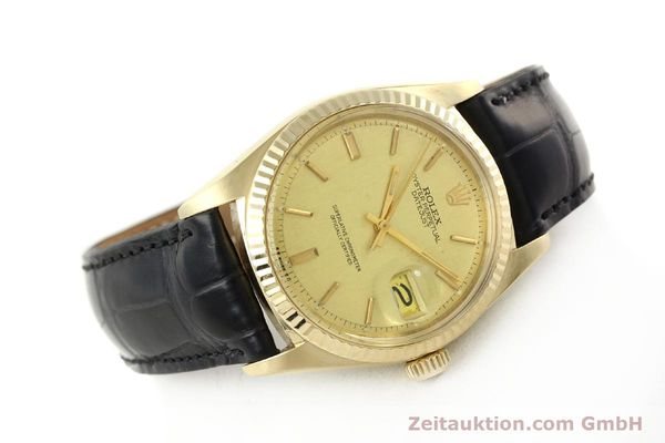 Used luxury watch Rolex Datejust 18 ct gold automatic Kal. 1570 Ref. 1601  | 142486 03