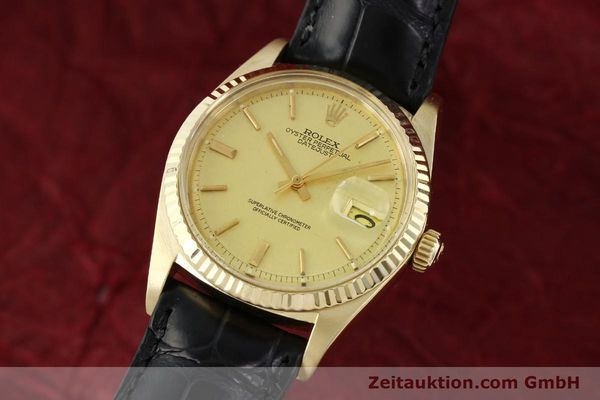 Used luxury watch Rolex Datejust 18 ct gold automatic Kal. 1570 Ref. 1601  | 142486 04