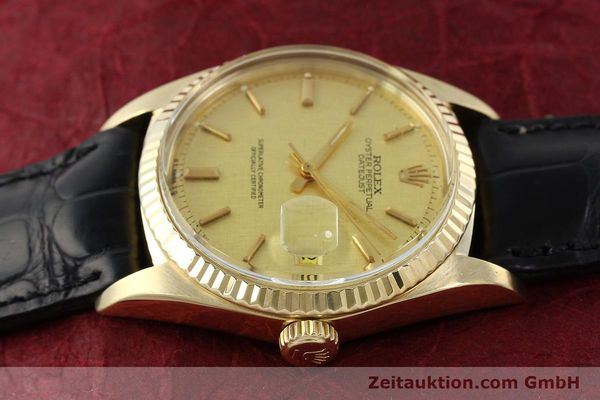 Used luxury watch Rolex Datejust 18 ct gold automatic Kal. 1570 Ref. 1601  | 142486 05