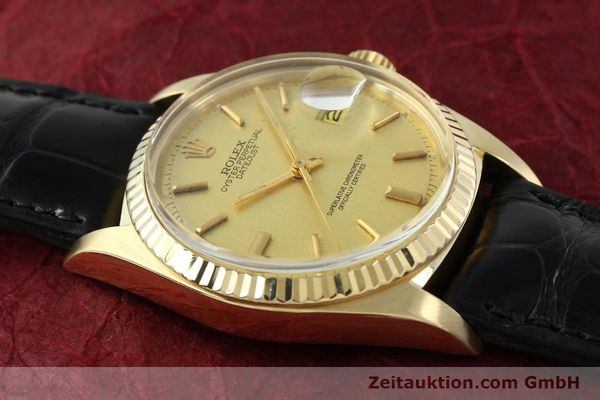 Used luxury watch Rolex Datejust 18 ct gold automatic Kal. 1570 Ref. 1601  | 142486 15