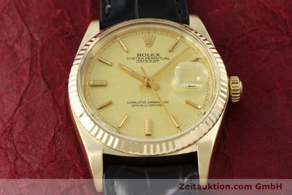 Used luxury watch Rolex Datejust 18 ct gold automatic Kal. 1570 Ref. 1601  | 142486 16